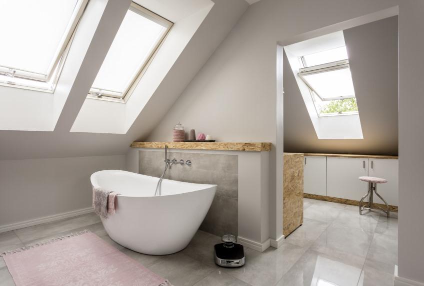 Inspiratie badkamer met dakramen